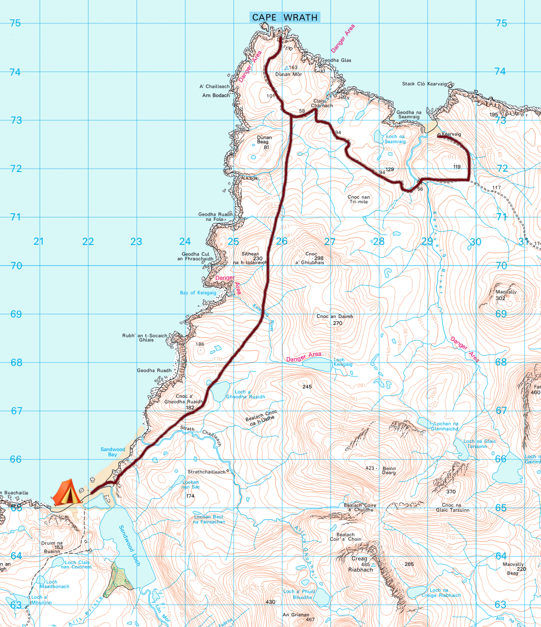 Day 2 Map Sandwood Bay.jpeg